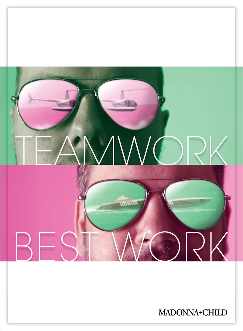 Teamwork Vice Cops poster by Madonna+Child