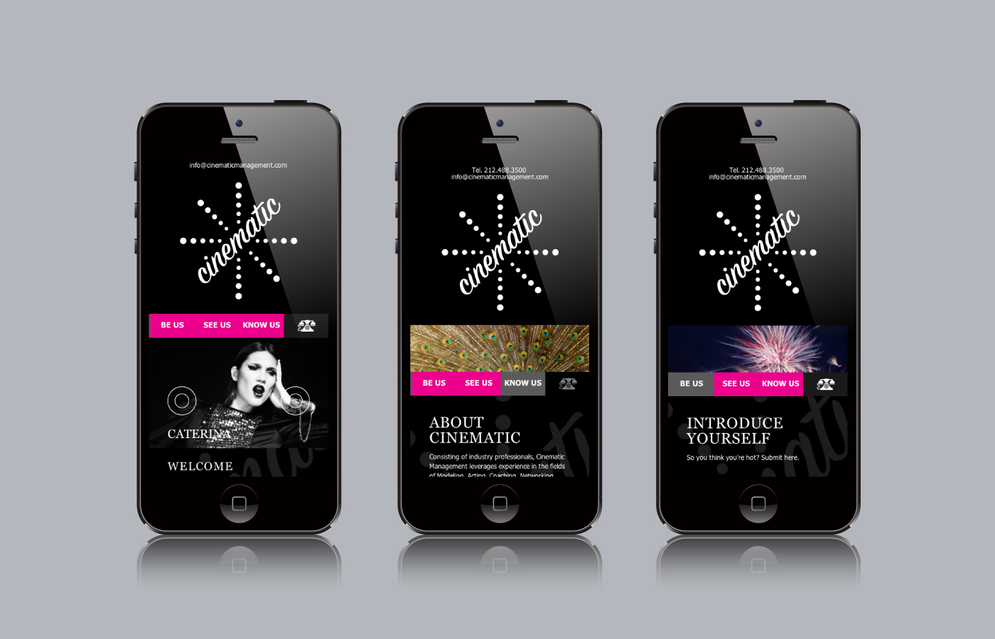 Responsive website for Cinematic Management by Madonna+Child