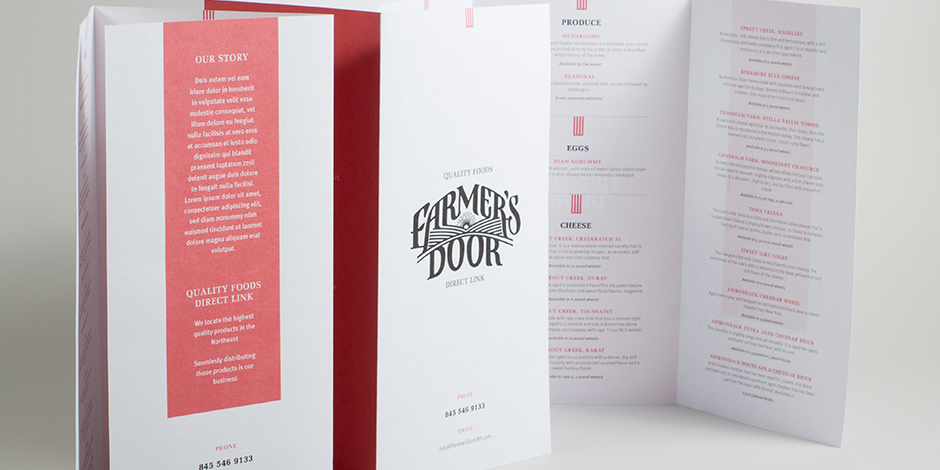 Branding for Farmer's Door by Madonna+Child